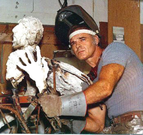 "Gideon Sculpting ""The Holocaust"" Sculpture, 1970"