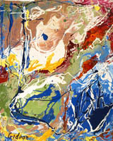 Gideon Painting: Modern Abstract — The World, Oil.