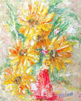 Gideon Painting: Florals Collection — Sunflowers II, Oil.