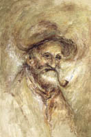 Gideon Painting: Masters Collection — Maxwell Street Man, Oil.