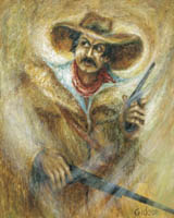 Gideon Painting: Masters Collection — The Gunfighter, Oil.